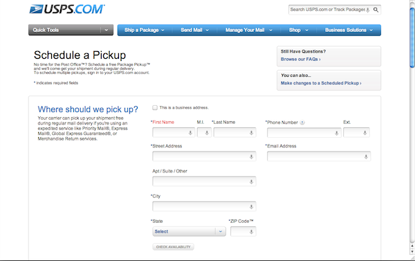Usps Free Package Pickup And Online Postage Payment The