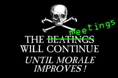 the meetings will continue jolly roger pirate flag